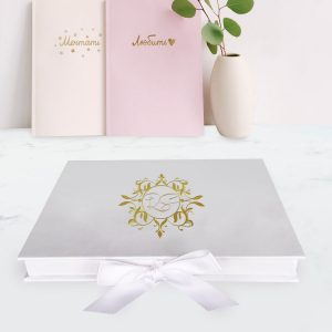 monogram wedding box for cards
