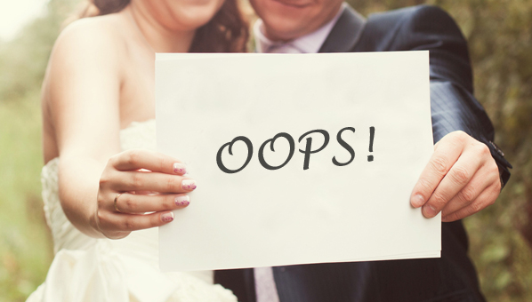 Common wedding planning mistakes