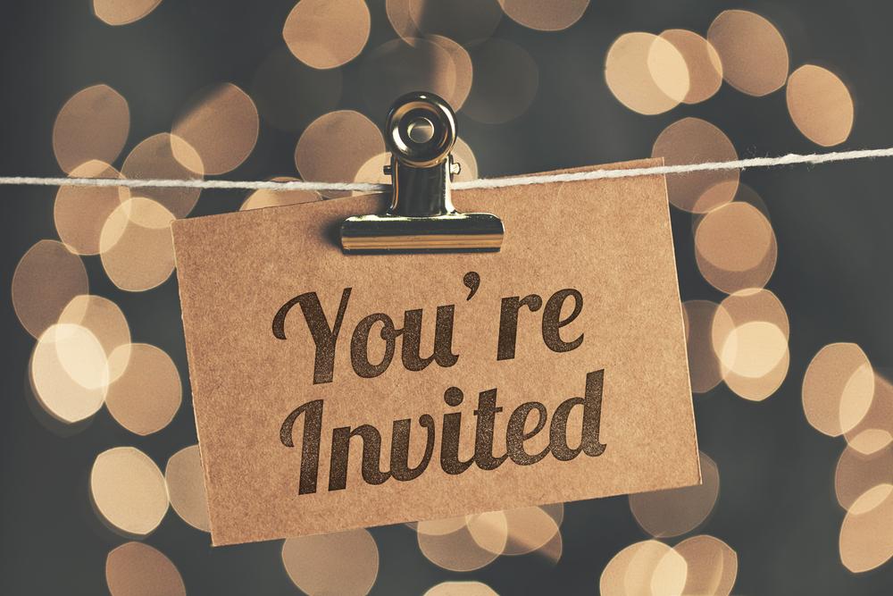 Black and White luxury wedding invitations