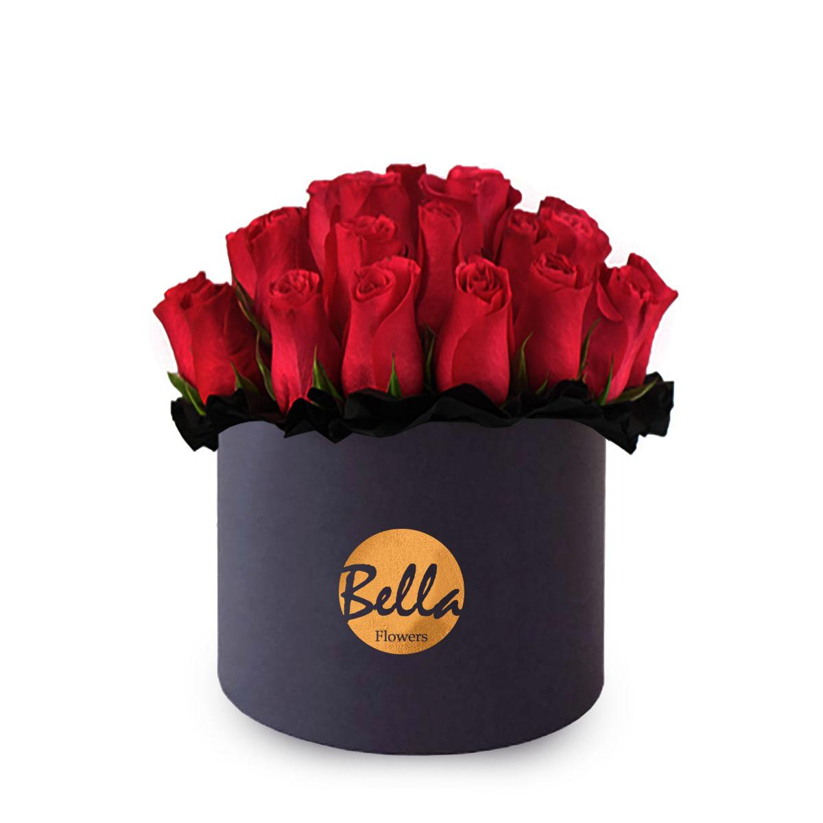 Round foil stamped flower box