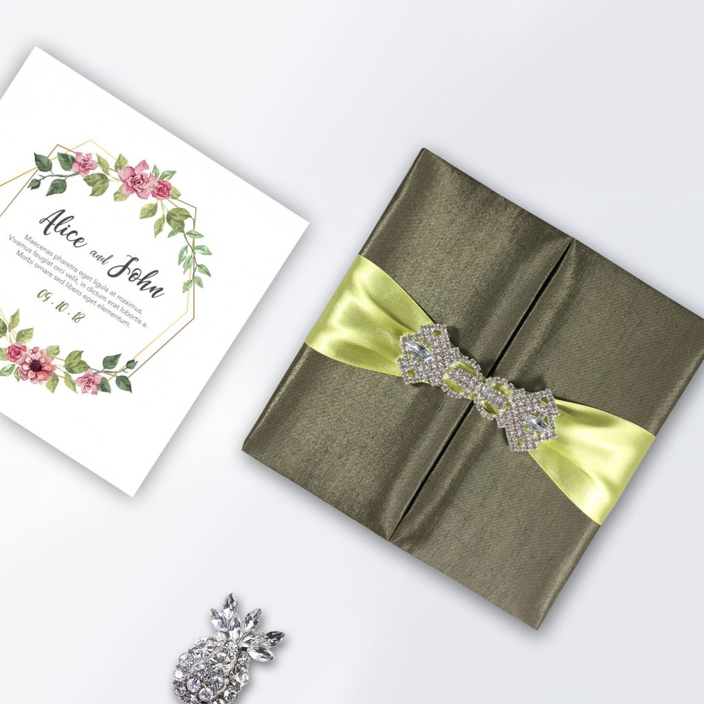 Example of luxury boxed wedding invitation design by Dennis Wisser
