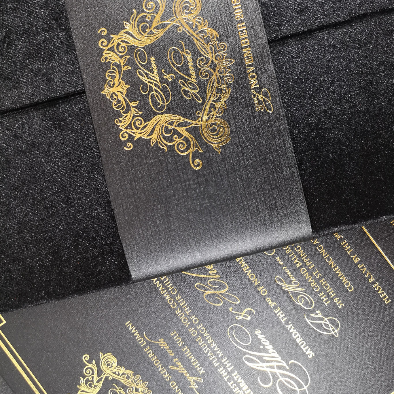 luxury invites for high-end wedding